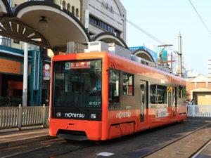 伊予鉄道 松山市内線 2107形 新塗装 20160514
